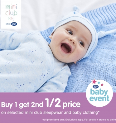 Boots mini club baby event
