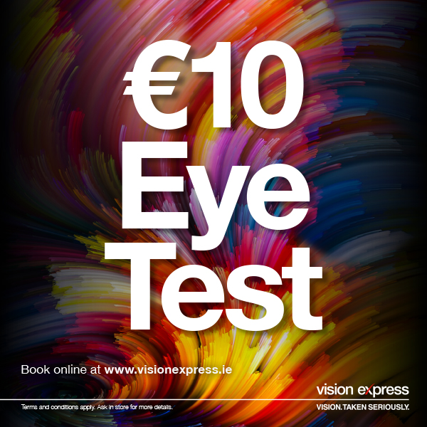 Vision Express €10 eye exam in Liffey Valley!