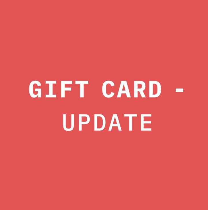 Gift Card - Update